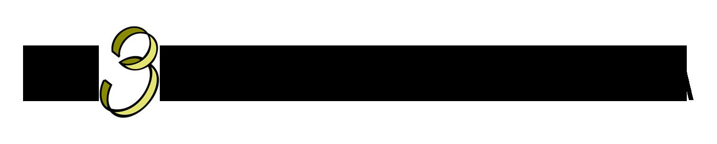 Logo de Tres Bodas y Media